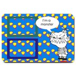 I m a monster - 30 X20  DOOR MAT - Large Doormat