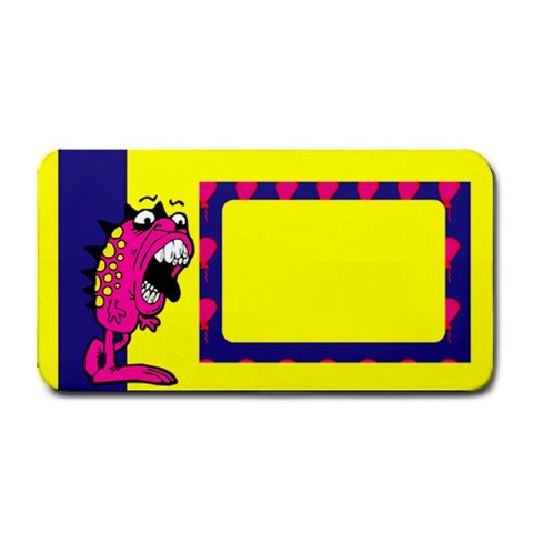 Orange Monster   16 x8 5  Bar Mat By Carmensita   Medium Bar Mat   8eenc202ak54   Www Artscow Com 16 x8.5 Bar Mat - 1