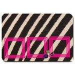 PINK AND ZEBRA - DOOR MAT - Large Doormat