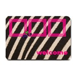 PINK AND ZEBRA - DOOR MAT - Small Doormat