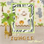 BABY SAFARI SCRAP PAGES - ScrapBook Page 12  x 12
