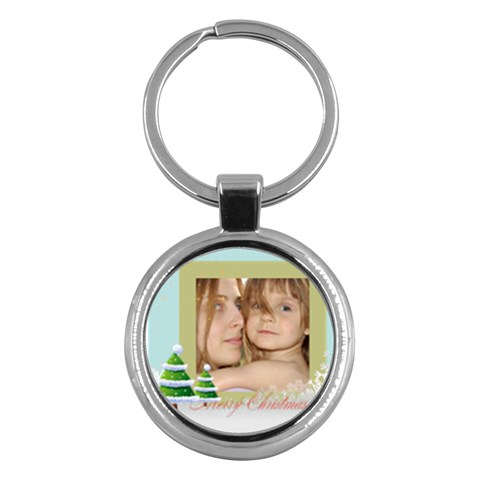Christmas By Wood Johnson   Key Chain (round)   G06rhbqwpxa0   Www Artscow Com Front
