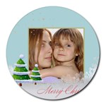 christmas - Collage Round Mousepad