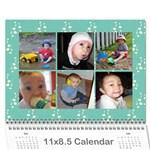 x-mas - Wall Calendar 11  x 8.5  (12-Months)