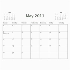 X Mas By Rachel Bergen   Wall Calendar 11  X 8 5  (12 Months)   9i4il9r01sra   Www Artscow Com May 2011