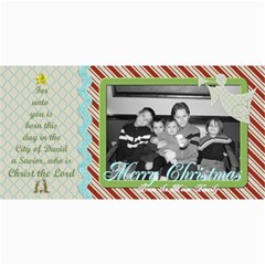Merry Christmas Photo Card W Tree By Martha Meier   4  X 8  Photo Cards   Y5pazl89gpe3   Www Artscow Com 8 x4 Photo Card - 8