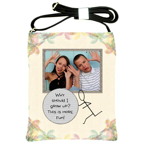 Why Should I Grow Up? Shoulder Sling Bag By Lil    Shoulder Sling Bag   Rqkeye406vcv   Www Artscow Com Front