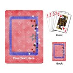 Red, White & Blue - playing cards - Playing Cards Single Design