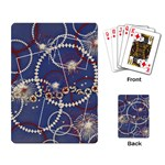 Red, White & Blue Fireworks- playing cards - Playing Cards Single Design