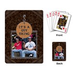 It s a Guy Thing Playing Cards - Playing Cards Single Design