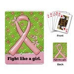 Fight like a girl. Breast Cancer Awareness w/photo-playing cards - Playing Cards Single Design