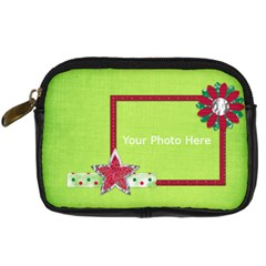 Merry And Bright Camera Case 1 By Lisa Minor   Digital Camera Leather Case   C6sqzic3spgv   Www Artscow Com Front