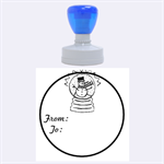 Snowman - RUBBER STAMP - Rubber Stamp Round (Large)