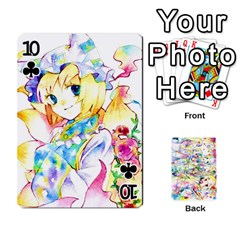 Touhou Watercolor Deck By Herpan Derpan   Playing Cards 54 Designs   Awp89gt03fyd   Www Artscow Com Front - Club10
