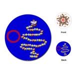 Christmas tree cards - Playing Cards (Round)