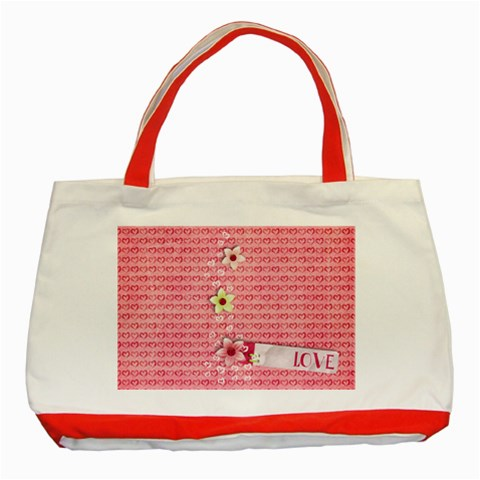 Love Classic Tote Bag Red By Mikki   Classic Tote Bag (red)   Y3g4n781hbix   Www Artscow Com Front