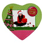 Christmas-tree & Santa- Heart ornament - Ornament (Heart)