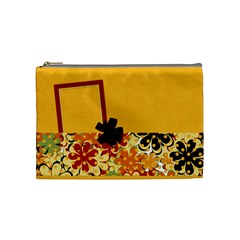 Tangerine Breeze Medium Cosmetic Bag By Lisa Minor   Cosmetic Bag (medium)   Pnuv541vvpi6   Www Artscow Com Front
