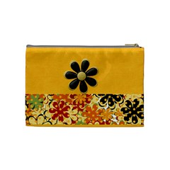 Tangerine Breeze Medium Cosmetic Bag By Lisa Minor   Cosmetic Bag (medium)   Pnuv541vvpi6   Www Artscow Com Back