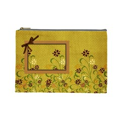 Tangerine Breeze Large Cosmetic Bag 1 By Lisa Minor   Cosmetic Bag (large)   Scm3nizo6yjs   Www Artscow Com Front