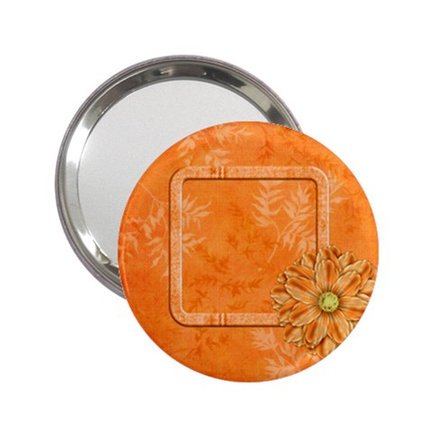 Tangerine Breeze Mirror By Lisa Minor   2 25  Handbag Mirror   Fbp9u9ekz1nx   Www Artscow Com Front