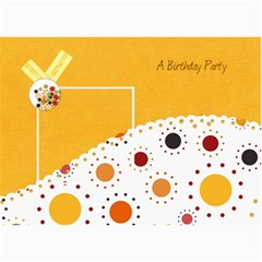 Tangerine Breeze Birthday Card 1 By Lisa Minor   5  X 7  Photo Cards   Vmwy0wzsr2d7   Www Artscow Com 7 x5  Photo Card - 5