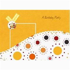 Tangerine Breeze Birthday Card 1 By Lisa Minor   5  X 7  Photo Cards   Vmwy0wzsr2d7   Www Artscow Com 7 x5  Photo Card - 7