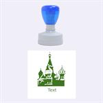 Russia stamp - Rubber Stamp Round (Medium)