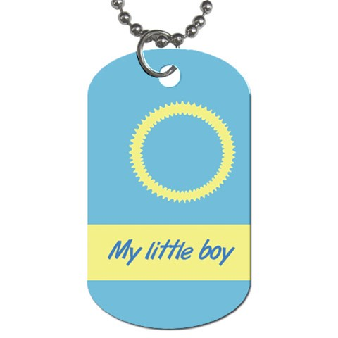 My Little Boy By Daniela   Dog Tag (one Side)   Ch2t4dgfi8o5   Www Artscow Com Front