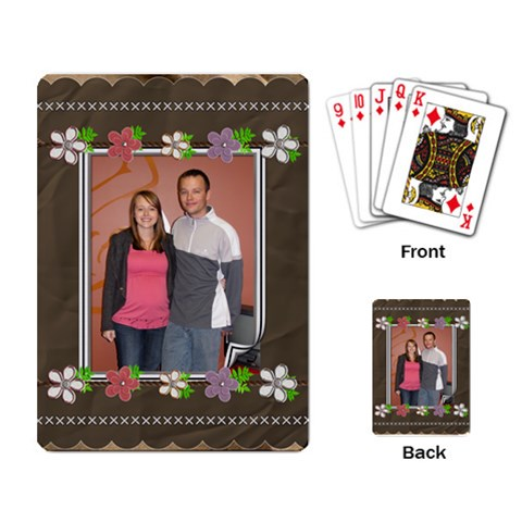 Flower Power Playing Cards By Lil    Playing Cards Single Design (rectangle)   8e0ldt60x6lz   Www Artscow Com Back