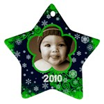 Scroll Upon a Star snowflake 2010 star ornament - Ornament (Star)