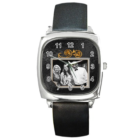 Masculine Design Square Metal Watch By Lil    Square Metal Watch   Ufq20hicpv6m   Www Artscow Com Front