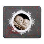 Baby s first Christmas mouse mat - Large Mousepad
