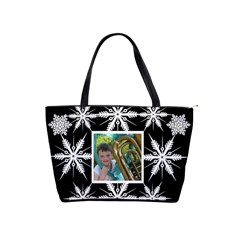 Snowflake Classic Shoulder Bag By Catvinnat Front