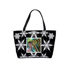 Snowflake classic shoulder bag by Catvinnat Back