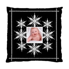 Snowflake Cushion Midnight Snowstorm By Catvinnat   Standard Cushion Case (two Sides)   Wlc9llm6rzsc   Www Artscow Com Front