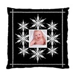 snowflake cushion midnight snowstorm - Standard Cushion Case (Two Sides)