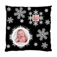 Snowflake Cushion Midnight Snowstorm By Catvinnat   Standard Cushion Case (two Sides)   Wlc9llm6rzsc   Www Artscow Com Back