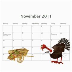 Calendar By Julia   Wall Calendar 11  X 8 5  (12 Months)   O2g3j3x3b7uh   Www Artscow Com Nov 2011