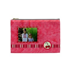 Cherry Slush Medium Cosmetic Bag By Lisa Minor   Cosmetic Bag (medium)   Fu2k8f8o1xsc   Www Artscow Com Front