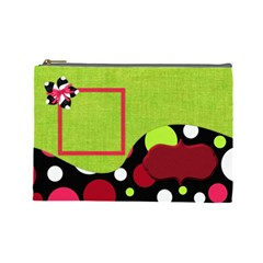 Cherry Slush Large Cosmetic Bag By Lisa Minor   Cosmetic Bag (large)   Donw2hgniezd   Www Artscow Com Front
