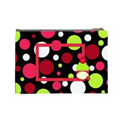 Cherry Slush Large Cosmetic Bag By Lisa Minor   Cosmetic Bag (large)   Donw2hgniezd   Www Artscow Com Back
