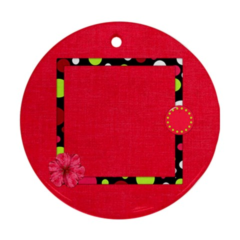 Cherry Slush 1 Sided Ornament 1 By Lisa Minor   Ornament (round)   Luoetau2mxrr   Www Artscow Com Front