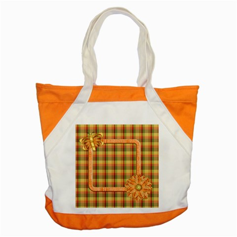 Tangerine Breeze Tote 2 By Lisa Minor   Accent Tote Bag   G5gk2qtigmvp   Www Artscow Com Front