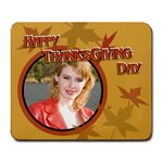 Happy Thanksgiving day - Large Mousepad