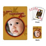 thanksgiving - Playing Cards Single Design