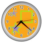 Little star - Wall Clock (Silver)