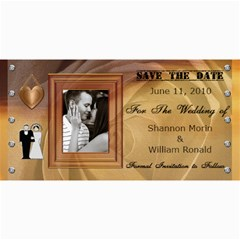 Wedding Save The Date Cards #4 By Lil    4  X 8  Photo Cards   Y109l89u6g65   Www Artscow Com 8 x4 Photo Card - 2