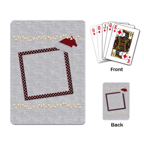 Holiday playing cards by Lisa Minor Back