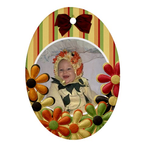 Tangerine Breeze Oval Ornament 2 By Lisa Minor   Ornament (oval)   1gf4oyjy67cf   Www Artscow Com Front